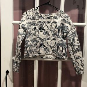 Artsy Cropped Pullover Sweater